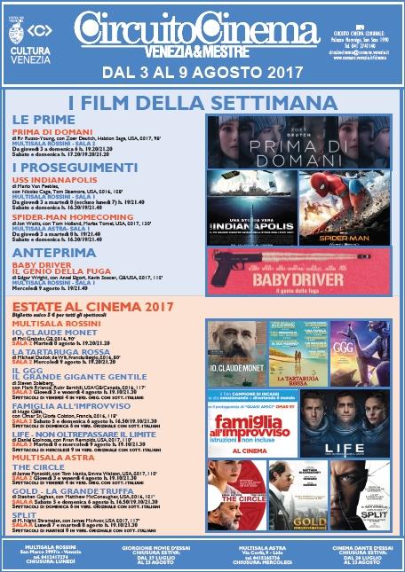 locandina Film in programmazione dal 3 al 9 agosto 2017
