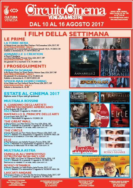 Locandina Film in programmazione dal 10 al 16 agosto 2017