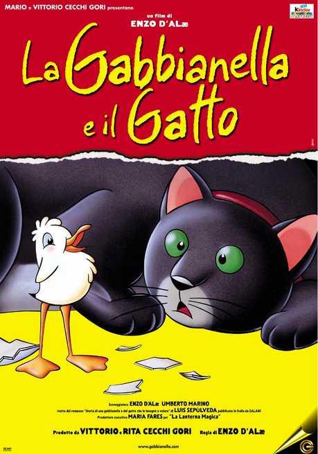 Locandina de La gabbianella e il gatto