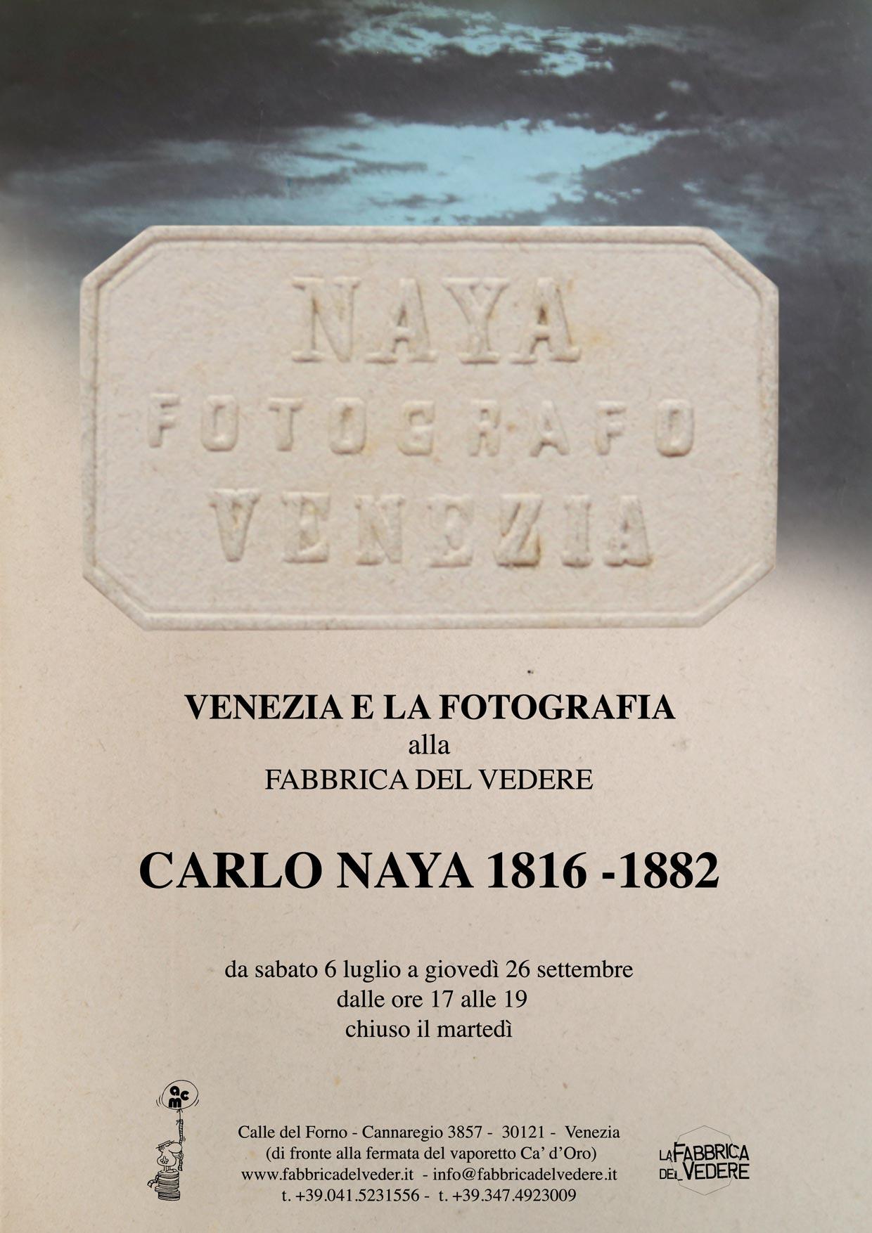 locandina mostra Carlo Naya
