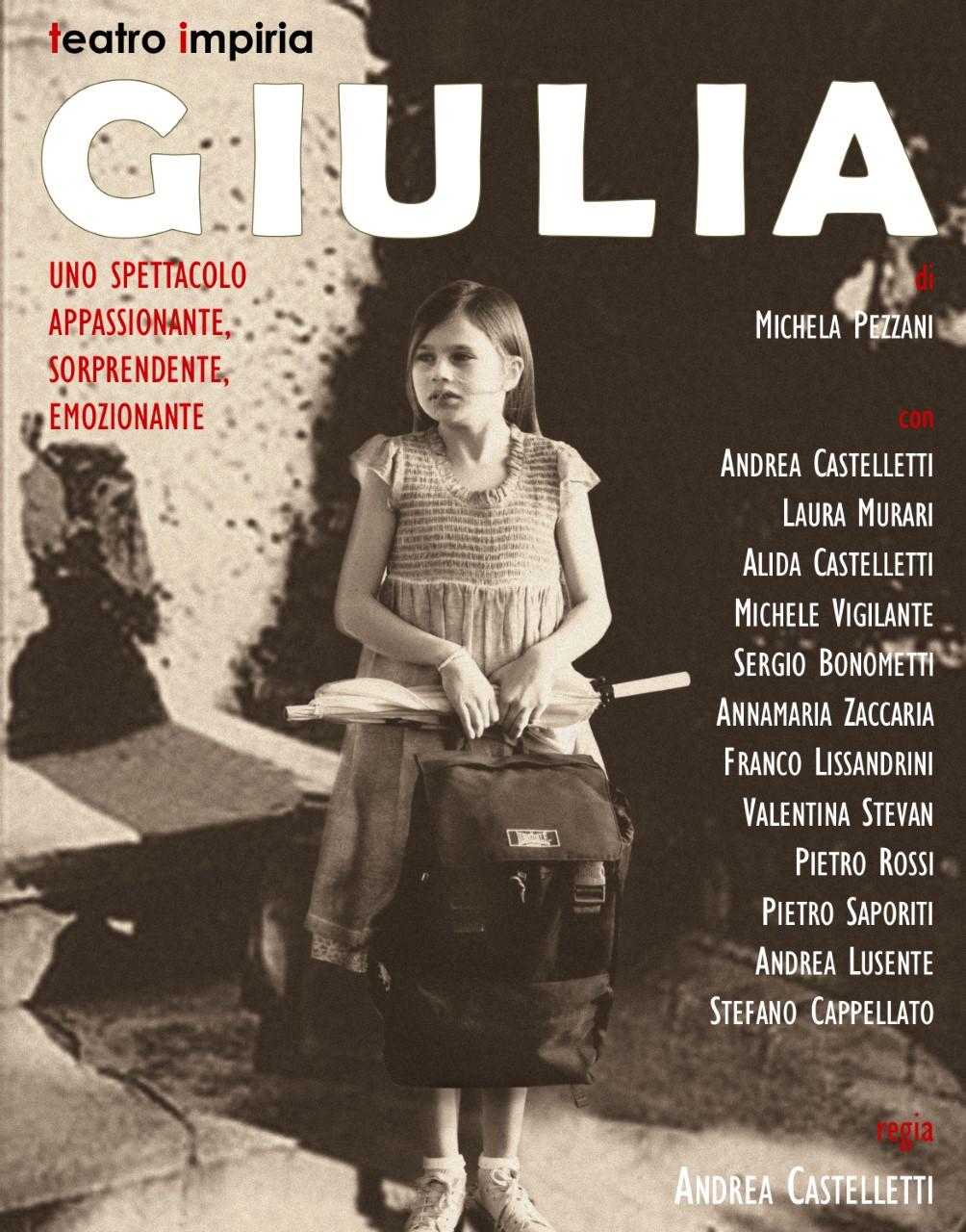 Giulia, spettacolo teatrale