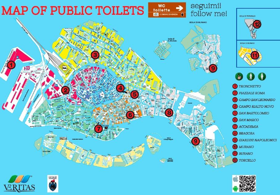 Cartina Venezia Centro Storico.Servizi Igienici Wc Comune Di Venezia