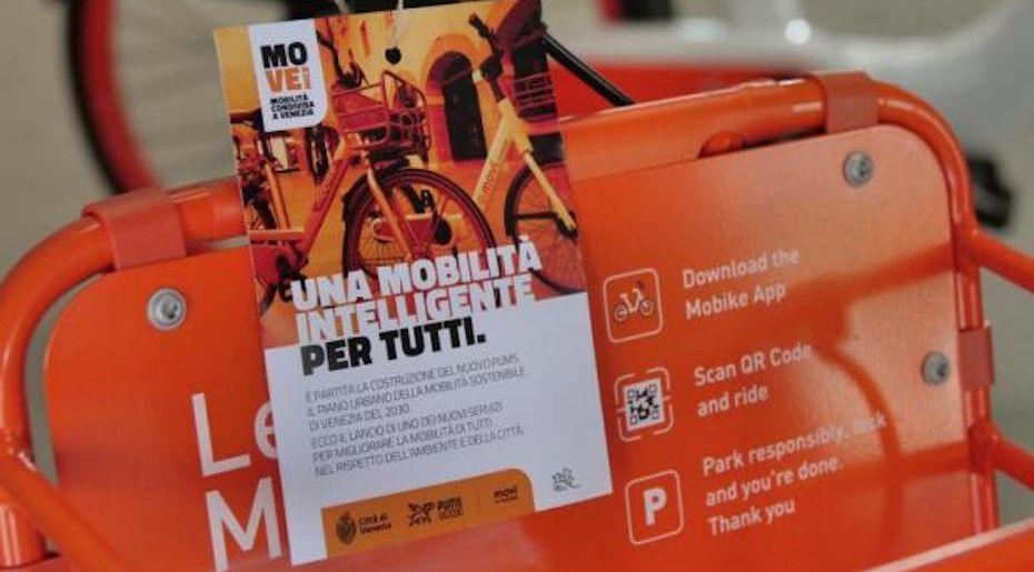 MO-VE-Nice, mobilità condivisa a Venezia: Bike Sharing