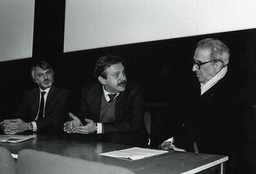 Jean A. Gili, Roberto Ellero e il regista Glauco Pellegrini ricordano Francesco Pasinetti nel quadro della manifestazione