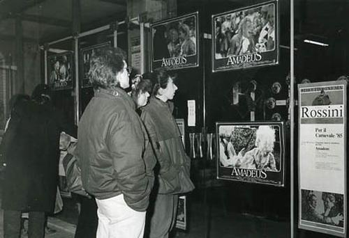 Anteprima del film di Milos Forman, Cinema Rossini, Venezia, febbraio 1985