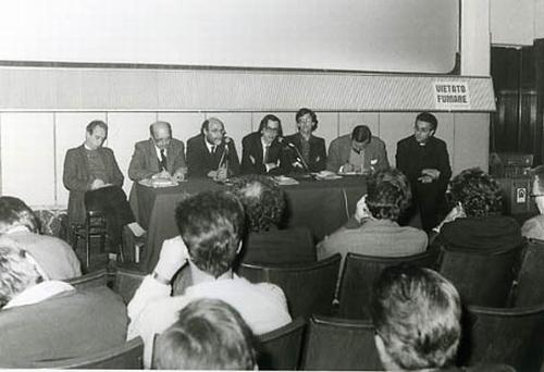 Incontro-dibattito sul film di Jean-Luc Godard Cinema Olimpia, Venezia, maggio 1985