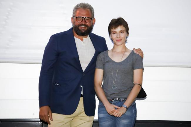 Marco Bellato e Maria Roveran, attrice del film Beate