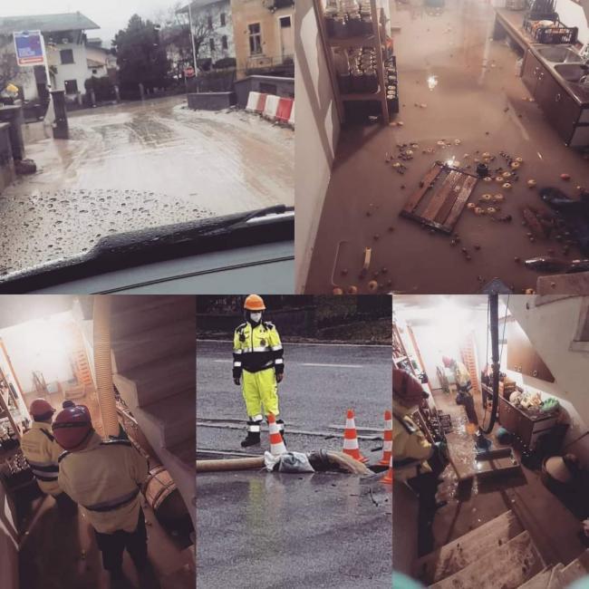 6 Dicembre 2020. I volontari del gruppo Venezia Terraferma sono andati a supporto della cittadinanza di Alpago a seguito delle forti piogge ed esondazioni che hanno creato molti allagamenti.