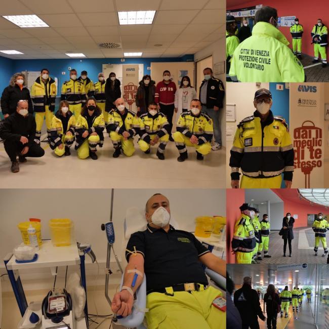 20 Febbraio 2021- Alcuni volontari della Protezione Civile hanno aderito alla campagna di donazione del sangue in un momento di carenza di donatorinza sangue
