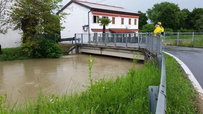 I Volontari sono impegnati nel monitoraggio fiume per rischio esondazione