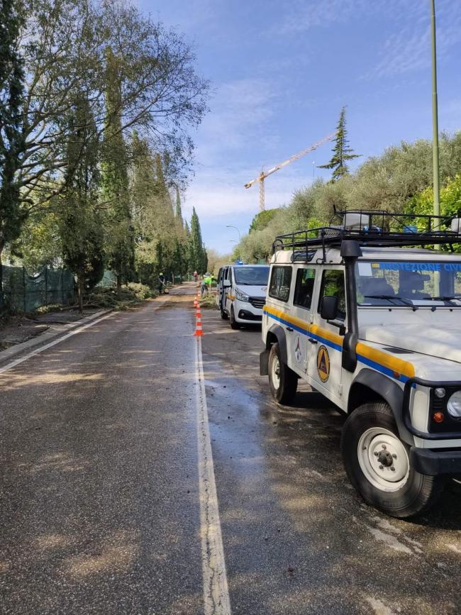 I volontari del Comune di Venezia impegnati sul territorio di Verona a seguito del maltempo del 24 agosto