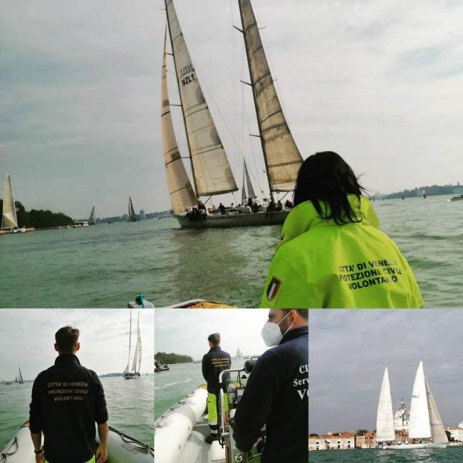 Ottobre 2020. Volontari inpegnati nella manifestazione Venice Hospitality  Challenge