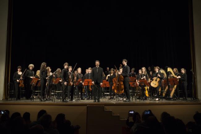 Orchestra GOM con il Maestro Piran