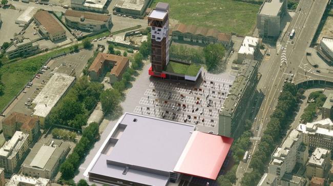 Hybrid Tower Mestre, spazio esterno