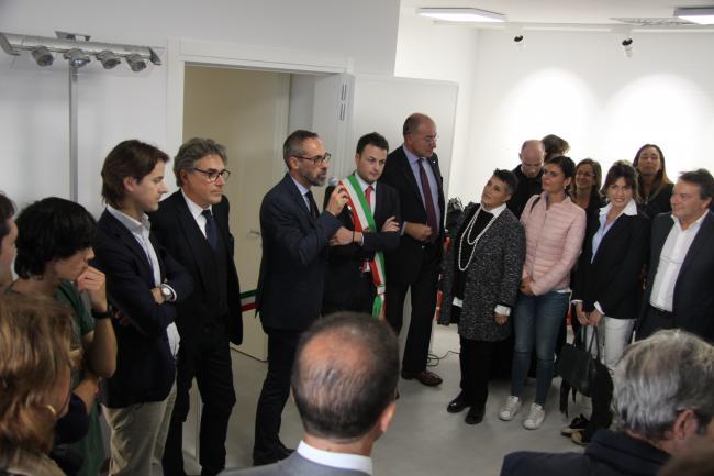 Michele Casarin, Dirigente del Settore Cultura, durante l'inaugurazione