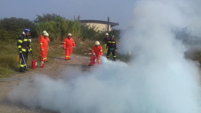 Addestramento spegnimento incendio