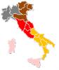 Immagine dell'Italia divisa in circoscrizioni elettorali Europee 2019